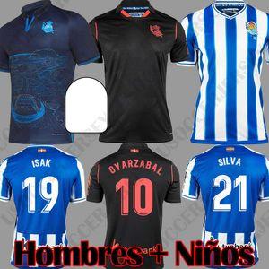 2019 2020 maillots de football Real Sociedad 19 20 OYARZABAL WILLIAN JUANMI maillot de foot extérieur GRANERO AGIRRETXE maillots de football