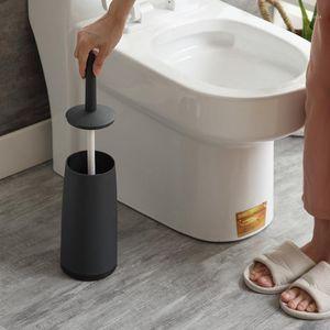 الإبداعية الشمال بسيط الأسود تصميم فرشاة مرحاض فرشاة المرحاض وحامل مجموعة mooie vorm المرحاض بورستيل مرحاض الملحقات 1