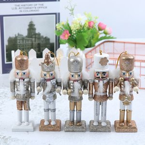NewPuppet 12cm Wooden Nutcracker Solider Figure Model Doll Handcraft For Children Gifts Christmas Home Office Decor Display 1Pc