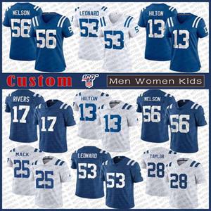 17 فيليب ريفرز انديانابوليسكولت الرجال مخصص للنساء للأطفال لكرة القدم جيرسي 53 داريوس ليونارد 56 Quenton نيلسون 13 T.Y. هيلتون Nyheim هاينز