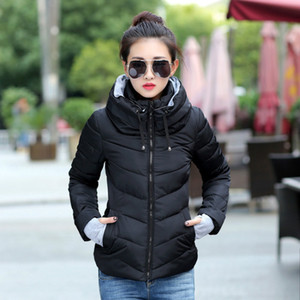 Women Parka Fashion Autumn Winter Jacket Women Winter Coat Female Parkas slim hooded Office Lady Cotton Jacket coat Plus Size