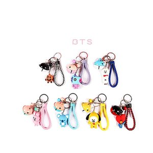 Cute Cartoon Doll Keychain Children's Toy Animal Bell Keyring Trinket Car Wallet Keychain Gift Girl jewelry 2020 New hot sale