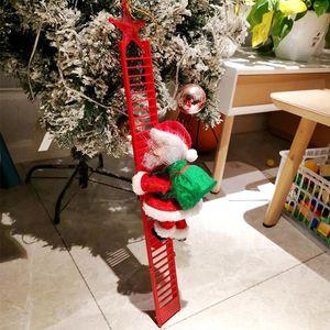 Natal decorações da janela Papai Noel bateria ornamento escalada uso de presente de Natal de Santa Claus 2AA DHA1870