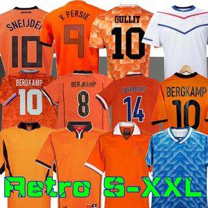 Retro 1988 Hollanda Soccer Jersey 2012 Van Basten 2000 2002 1998 1994 Hollanda 2010 Futbol Gömlek Bergkamp 1996 Gullit Sneijder Davids