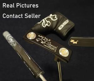 훌륭한 품질의 새로운 모델 검은 행복 개 골프 퍼터 실제 사진 연락처