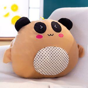 Soft Kawaii Love Bear плюшевая подушка мультфильм фаршированная кукла милая животная подушка для подушки рукой теплый игрушка рождения рождественский подарок