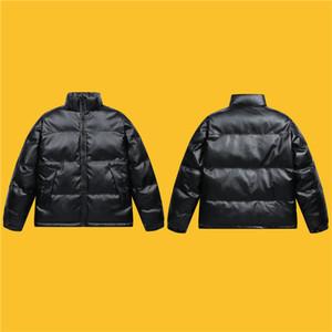 Мужская кожаная куртка Мужская Зимняя куртка Рождественский подарок Мужчины Тепловое кожа Толстые вниз пальто снег Мужчина Теплый Outwear Duck пуховик мужчин