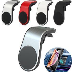 삼성 브라켓의 경우 프로 아이폰 (11)에 대한 자동차 GPS 휴대 전화 홀더 L 모양 자석 자동차 전화 홀더 에어 벤트 마운트 스탠드