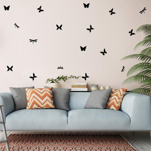 Butterfly Wall Stickers For Kids Room Wall Decoration Bedroom Living Room Children Girls Decal Poster Mural