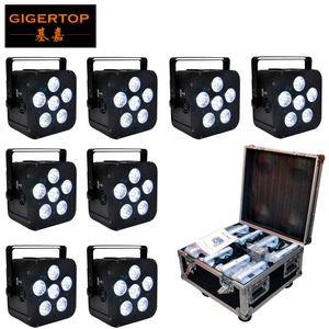 8in1 Зарядка Flightcase Упаковка 6x18W 6in1 RGBAW УФ батареи питания беспроводной LED Par свет, LED Slim Par Can Event, Disco Party