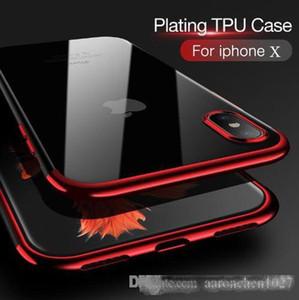 Caso original do telefone para o iPhone 8 8plus X 10 Luxury forma transparente TPU macio banhado Mobile Phone Voltar Shell para o iPhone 6 6S 7 7plus caso