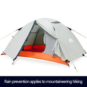 2 Person Aluminum Pole Lightweight Camping Tent,Backpacking Tent, Double Layer Portable Handbag For Hiking,Travelling