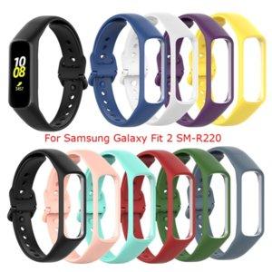 Silikonriemen für Samsung Galaxy Fit 2 SM-R220 Armband Ersatz Armband für Samsung Galaxy Fit2 R220 Uhrenarmband Zubehör