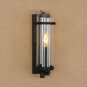 Loft Iron Wall Lamps Industrial Vintage Glass Lampshade E14 LED Sconce Wall Lights For Home Kitchen Living Room Bedroom Bathroom