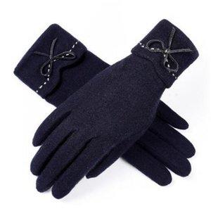 Newfashion Visnxgi Haute Qualité Nouvelle marque Women's Winter Poignet mince chaleureux cachemire fourrure gants femelles