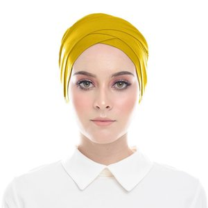 Malaysia Solid Color Ladies Headscarves 31 Colors Modal Cross Bottoming Hats Arabian Sweat-Absorbent Cotton Caps Free Shipping