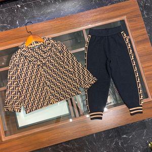 top quality kids clothing sets kids clothes boys girls tops jacket sweatshirt sweaters pants trousers 2pcs sets IBX4