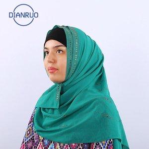 Hot donne musulmane DIANRUO alta qualità massello naturale chiffon Hijabs lungo Georgette sciarpa scialli islamico Copricapo avvolge Sciarpe N489