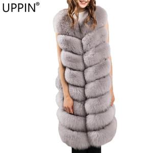 UPPIN larga de las muchachas artificial chaleco de piel de invierno de las mujeres de moda de piel falsa mujer caliente chalecos falso chaqueta abrigos Mujer