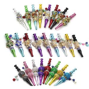 wholesale colorful animal shape metal hookah tips blunt holder with rhinestones hookah mouthpiece shisha tips smoking accessories