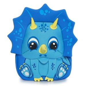 Kokomilo Kindertasche 3-5 Jahre Cartoon Tier Muster Kinder Rucksäcke Dinosaurier Kindergarten Schultasche Unicorn Y200706