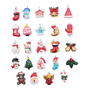 Miniature Christmas Beads Charms Accessories Christmas Pendants Jewelry Pendant Accessory for Xmas Party Necklace Bracelet Earring DIY Suppl