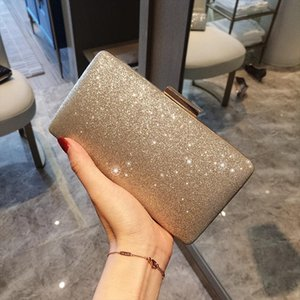 Ladies Gold Clutch Evening Bags Women Party Wedding Hand Bag Bridal Mini Simple Purse bolsos Free Shipping