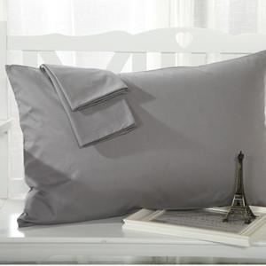 Kekentleman 1 Par 45 * 72cm Funda de almohada sólida, cubierta de almohada, funda de almohada, color opcional 16 colores