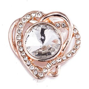Snap Button 18 Mm Heart Crystal Metal Snaps For Snaps Bracelets Fit Ginger Snaps Jewelry Crystal Snap Tz9138 sqcyit new_dhbest