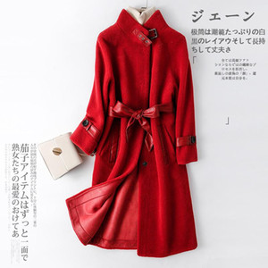 Fur Autumn Winter Coat Real Women Clothes 2020 Korean Sheep Shearing Jackets Warm Wool Jacket 11DU-901-1111 YY1720