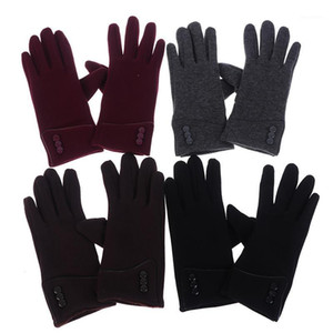 1Pair Windproof Ski Cycling Thicken Fleece Warm Sports Outdoor Mens Gloves Winter Gloves Women Touch Screen1