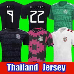 Top Mexico Soccer Jersey Home Away Camisetas 20 21 Chicharito Lozano Dos Santos 2020 2021 Camicie da calcio Uomo + Kid Kit Uniformi Maillots