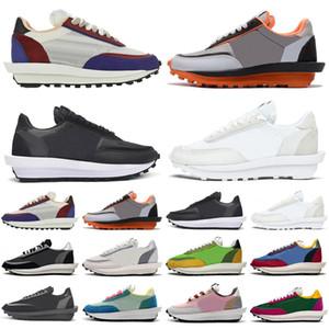 2020 Sacai waffle ldv ld ldwaffle hombres mujeres deportes zapatos negro blanco nylon varsity azul al aire libre para hombre zapatillas deportivas zapatillas de deporte corredores