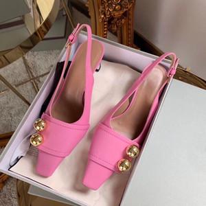 Moda zapatos de tacón alto HERMOSOS HERMOSOS TOEL MEDIO ZAPA DE TEEL MEDIO SLIM Tacón de cuero Sandalias de verano puntiagudo Boca superficial Dama de honor zapatos de boda