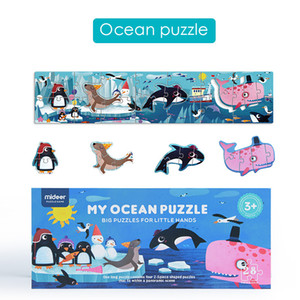 MiDeer Early education Puzzle Kids Traffic Jungle Ocean Jigsaw Educational Toys for Children Gift