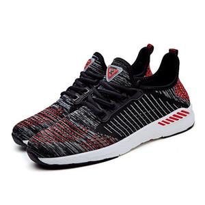 Envío rápido de los hombres de moda los zapatos de malla transpirable zapatillas de deporte de hombres caminando calzado Nuevos zapatos cómodos para correr livianos