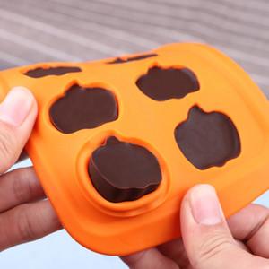 3D Halloween Halloween Silicone Molde de 10 peças Forma de abóbora Qiaoli Molde DIY Cozimento Bolo Venda Quente