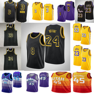 NCAA LeBron James 23 Anthony Jersey 3 Davis Donovan 45 Mitchell 23 Michael Mens College Basketball Maillots