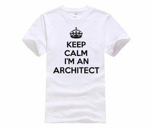 Phiking Company T Shirt Design Keep Calm IM An Architect Engineering Buildings Funny Comfort Soft O Neck Short Sleeve Shirt Fun T Shir EFef#