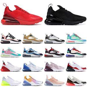 nike air max 270 react shoes hombres zapatos para correr mujeres entrenadores Triple negro blanco rojo Coral Pastel Photo Blue 270s para hombre Zapatillas deportivas al aire libre