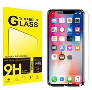 Téléphone cellulaire écran protecteur pour iPhone 7 plus Verre Trempé 9H Téléphone portable en verre trempé de protection Film Couverture