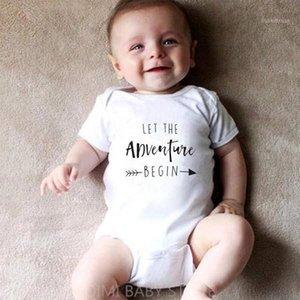 Deje que la aventura comience el baby onesie anuncio de embarazo Onesie Ropa Baby Boys Girls Body Sumpsuit Trajes de ropa1