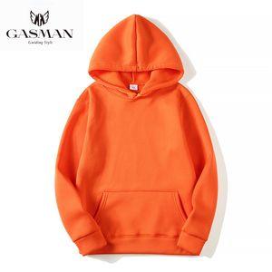 Kadınlar cebi sonbahar katı gevşek kış Kadın sweatshirt Gasman Kazaklar pembe rahat hoodies uzun kapüşonlu kazak sleeve 201019