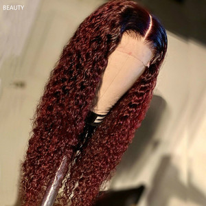 Mongolian Afro Kinky Curly Wig 180% Density Lace Front Human Hair Wigs for Black Women Pre Plucked Remy Wigs AAA