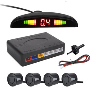 1 Set Of Reversing Radar 4 Probe Buzzing LED Parking Sensor Back Up Radar Monitor System car
