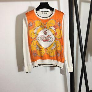 Milan Runway Sweater 2021 Long Sleeve O Neck Women's Sweaters High End jacquard Pullover Women Designer Sweater 1228-10