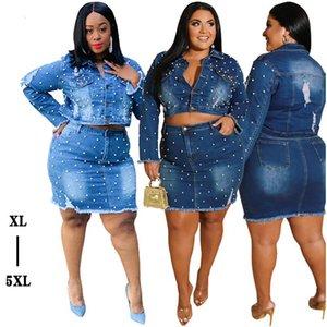 XL-5XL Kadın Plus Size Big Yards Zarif Çiçek Dantel Kadınlar Elastik Tee Gömlek büyük boy kot elbise kadın Tops