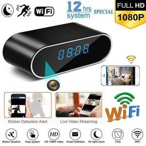 Wi-Fi del reloj de tabla mini cámara 1080P HD IP P2P DVR videocámara ajuste de la alarma del sensor de movimiento Noche Visión Monitor remoto Micro Cam