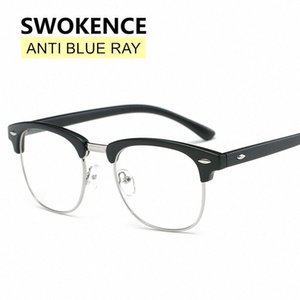 SWOKENCE Fashion Blue Light Proof Glasses Men Women Brand High Quality Anti-radiation Goggles For Computer Workers F186 CQuu#
