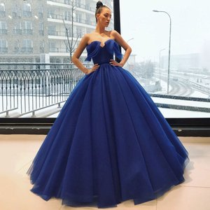 Deep Blue Dress Arabic Dubai Style Unique Design Ball Gown Sexy Sweetheart Evening Dress for Special Occations Custom Made